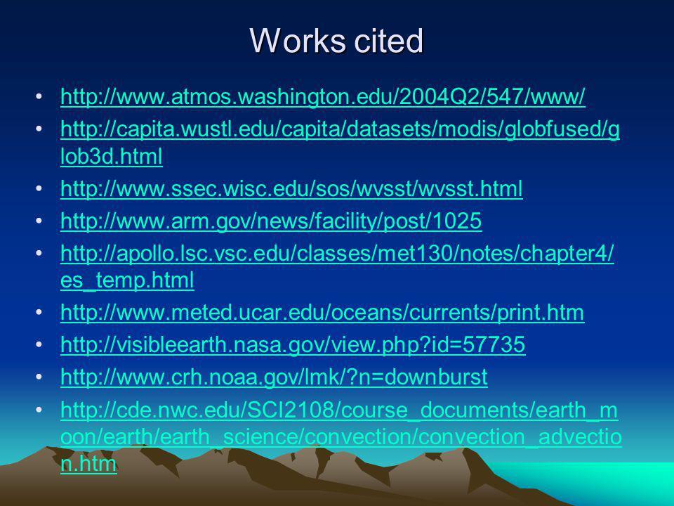 Works cited http://www.atmos.washington.edu/2004Q2/547/www/