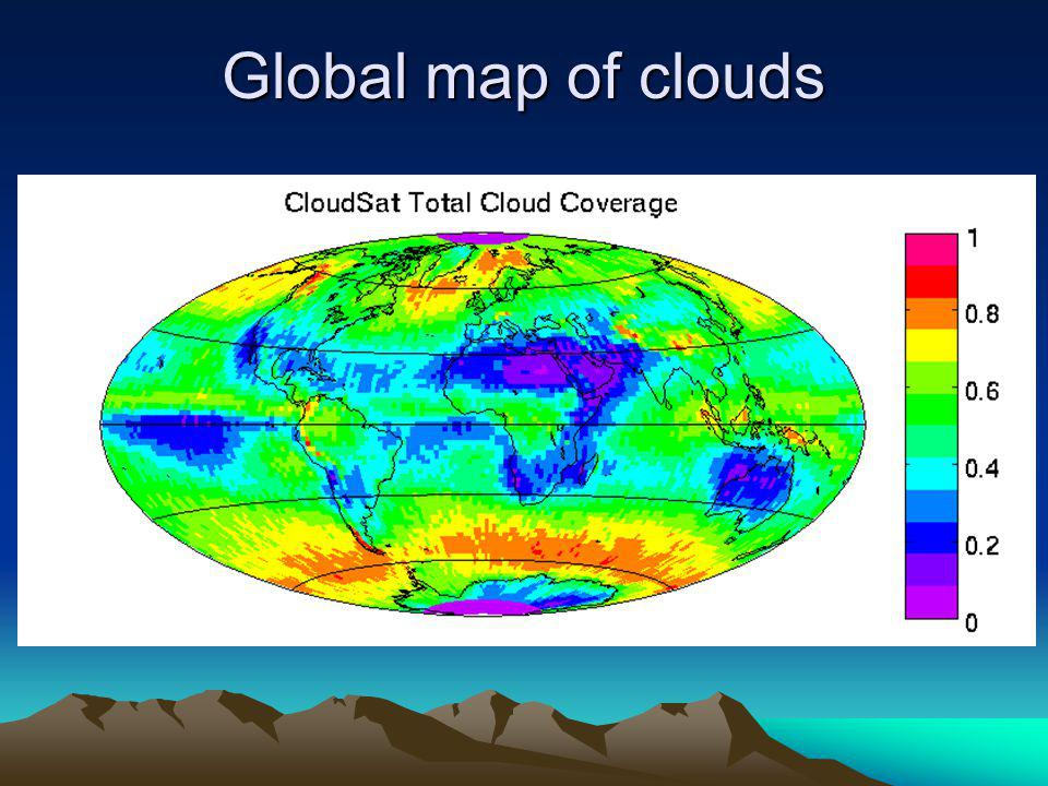 Global map of clouds