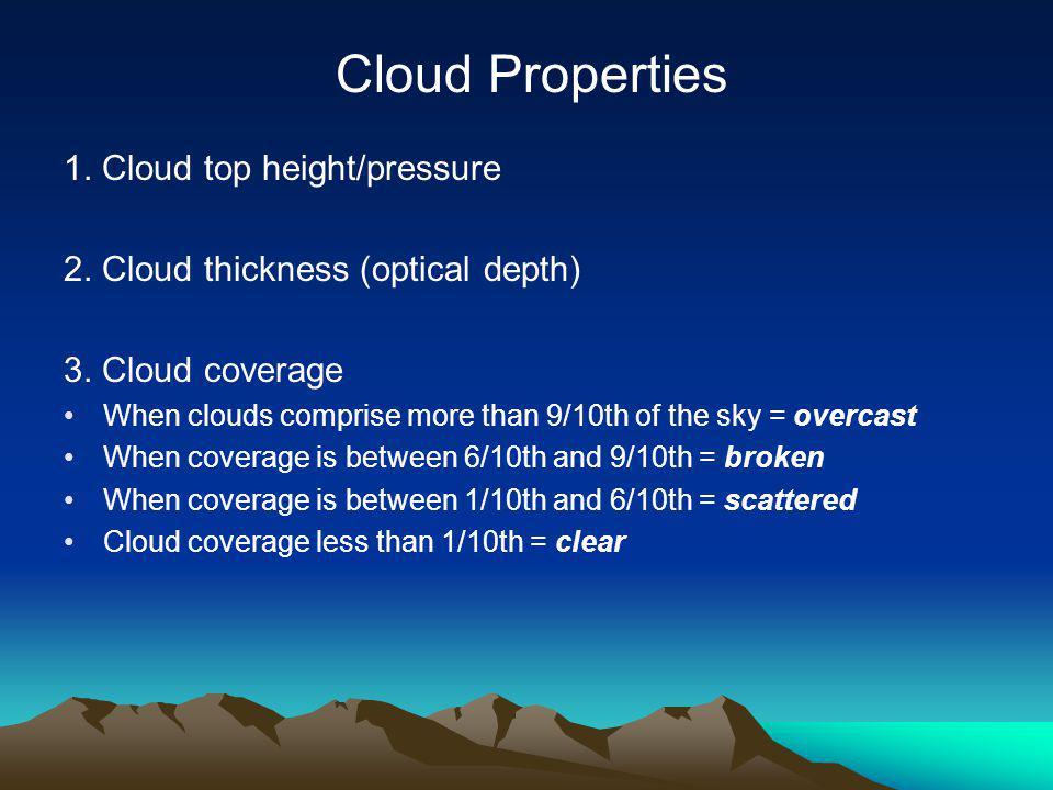 Cloud Properties 1. Cloud top height/pressure