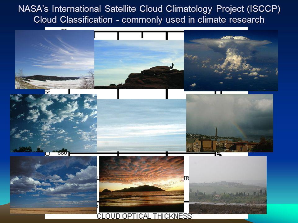 NASA's International Satellite Cloud Climatology Project (ISCCP) Cloud Classification - commonly used in climate research