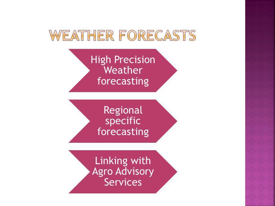 Weather forecasts High Precision Weather forecasting