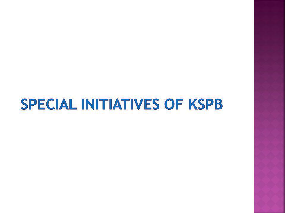 Special initiatives of KSPB