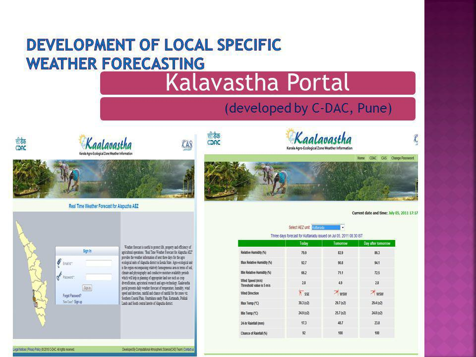 Development of local specific weather forecasting