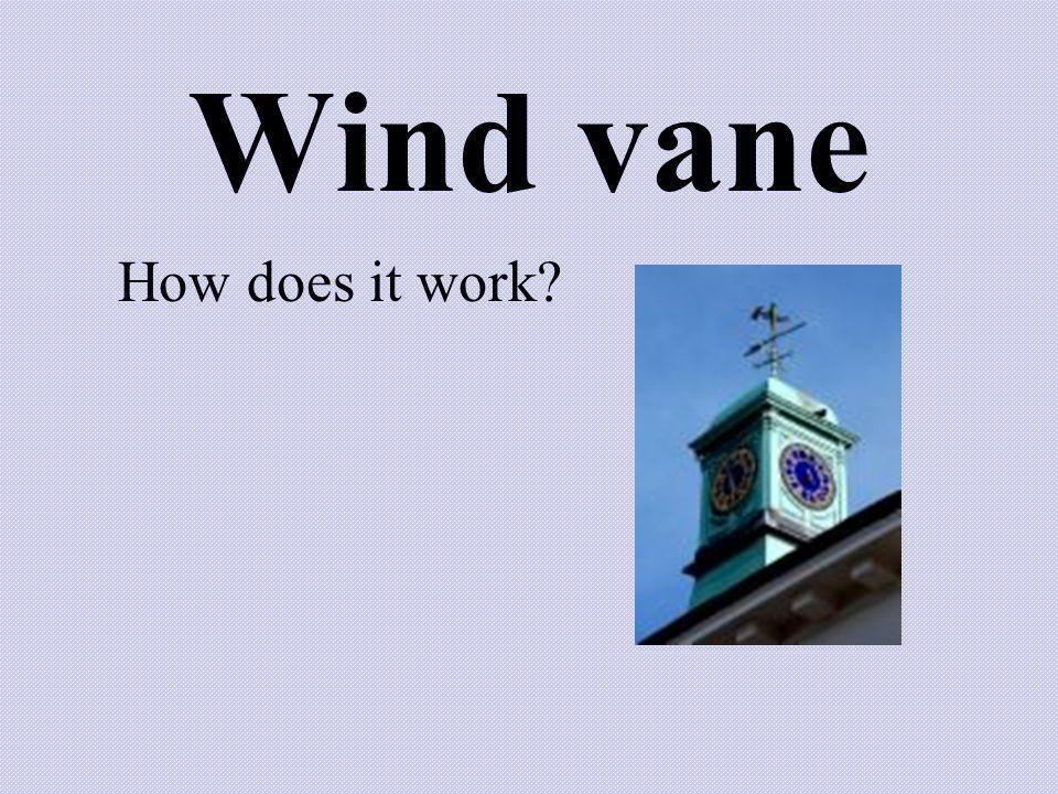 Wind vane How does it work