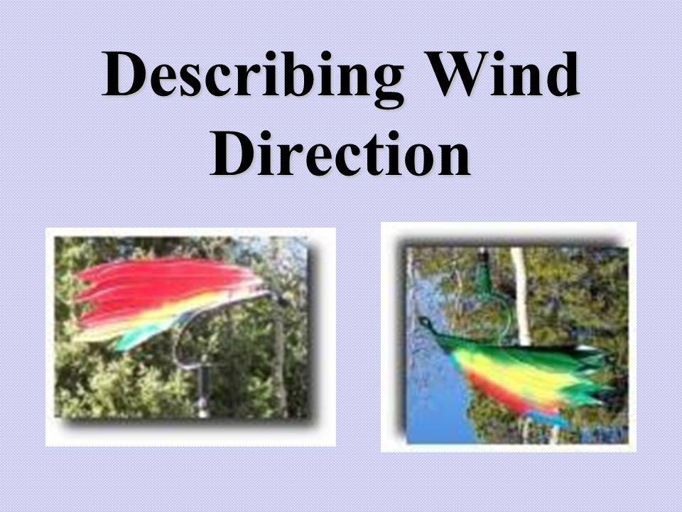 Describing Wind Direction