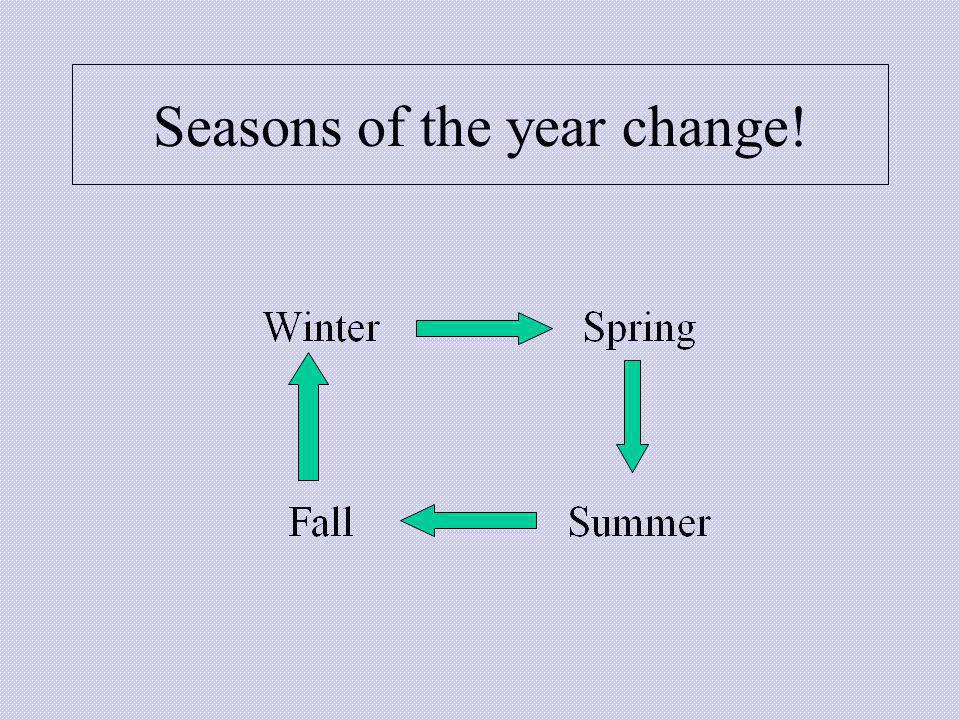 Seasons of the year change!