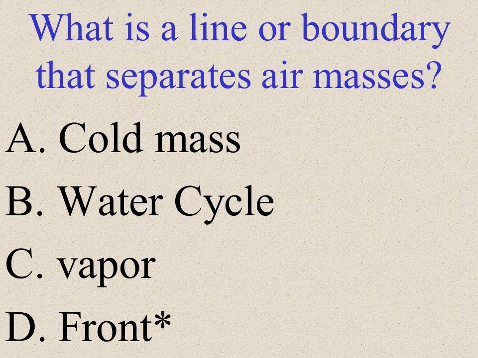 What is a line or boundary that separates air masses