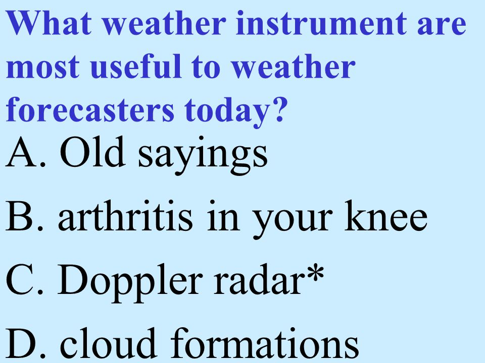 What weather instrument are most useful to weather forecasters today