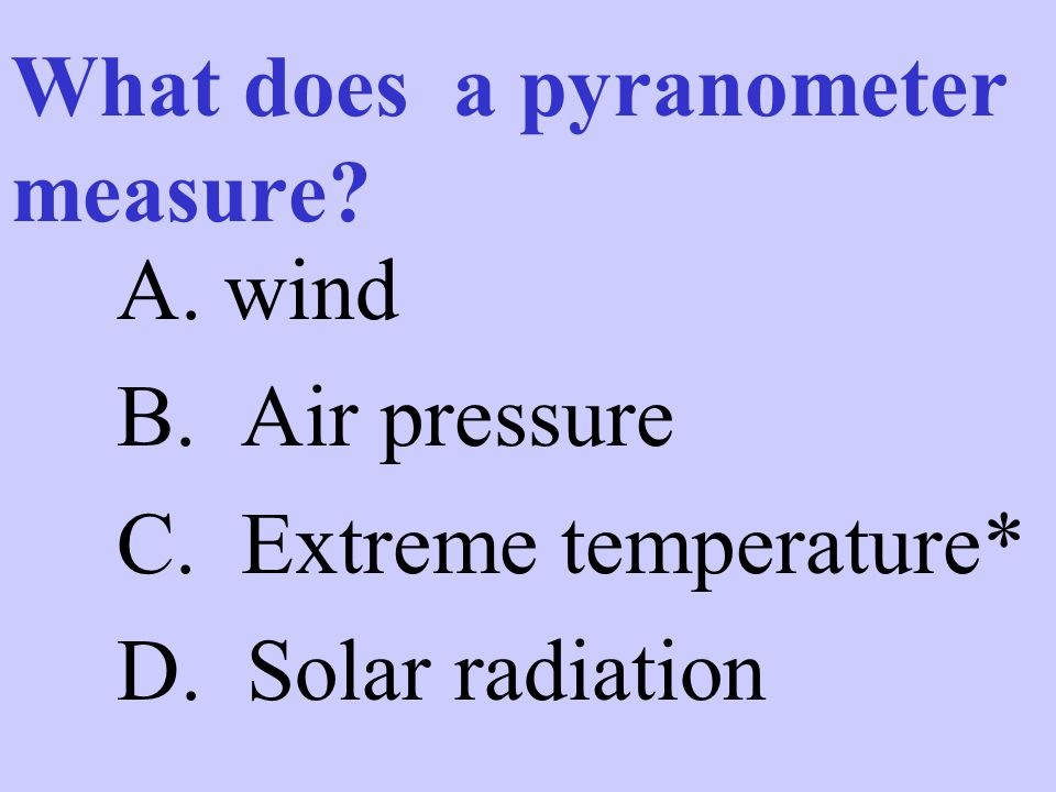 What does a pyranometer measure