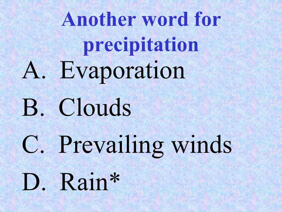 Another word for precipitation