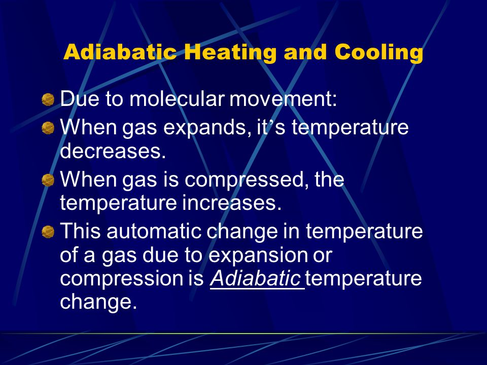 Adiabatic Heating and Cooling