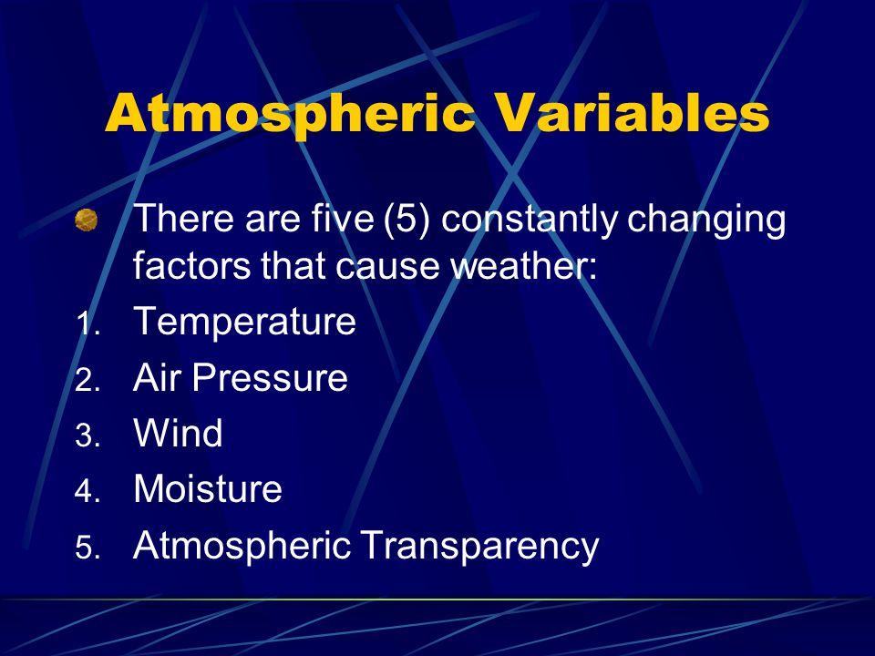 Atmospheric Variables