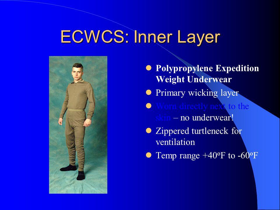 ECWCS: Inner Layer Polypropylene Expedition Weight Underwear