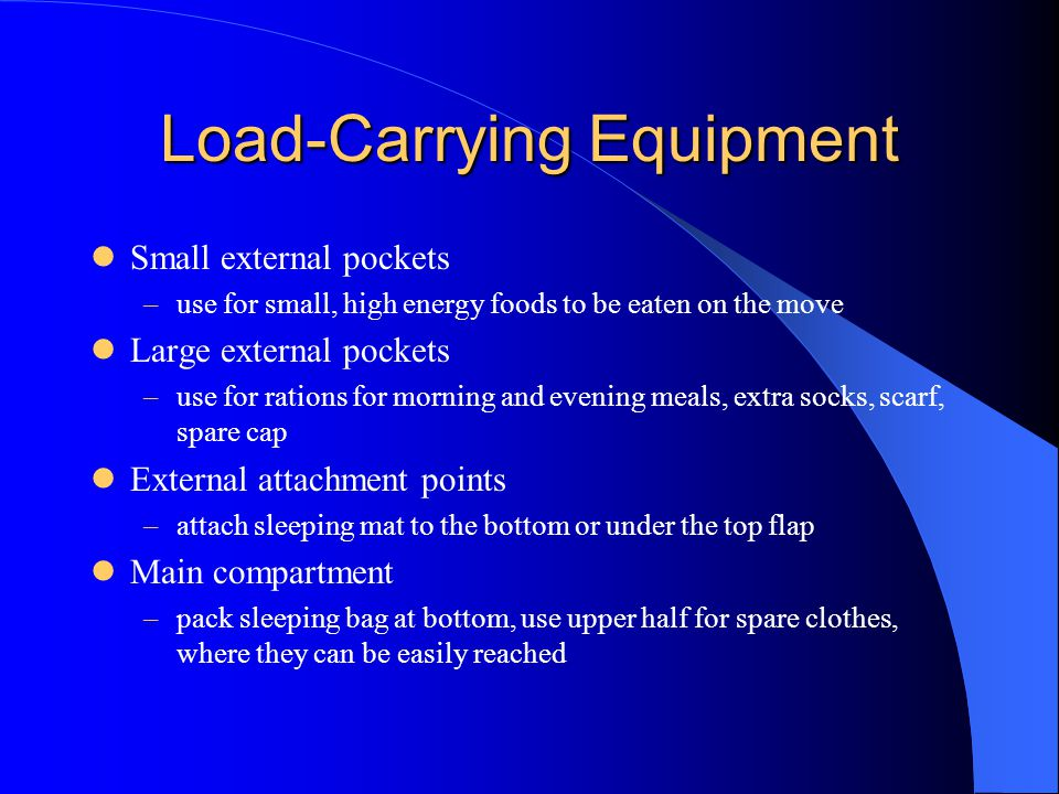 Load-Carrying Equipment