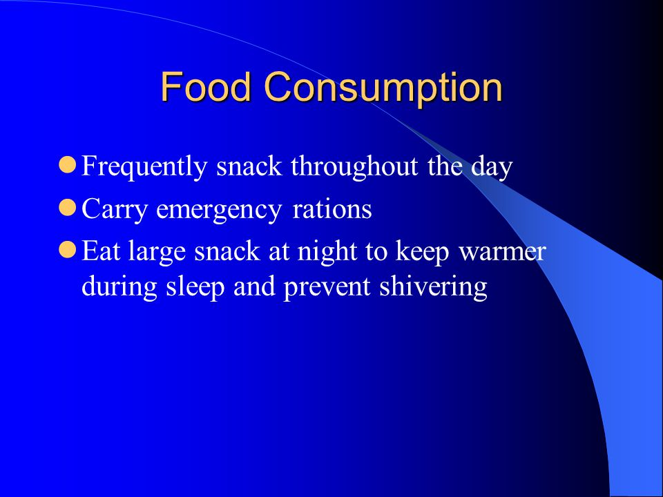Food Consumption Frequently snack throughout the day