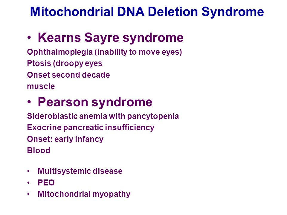 Mitochondrial DNA Deletion Syndrome