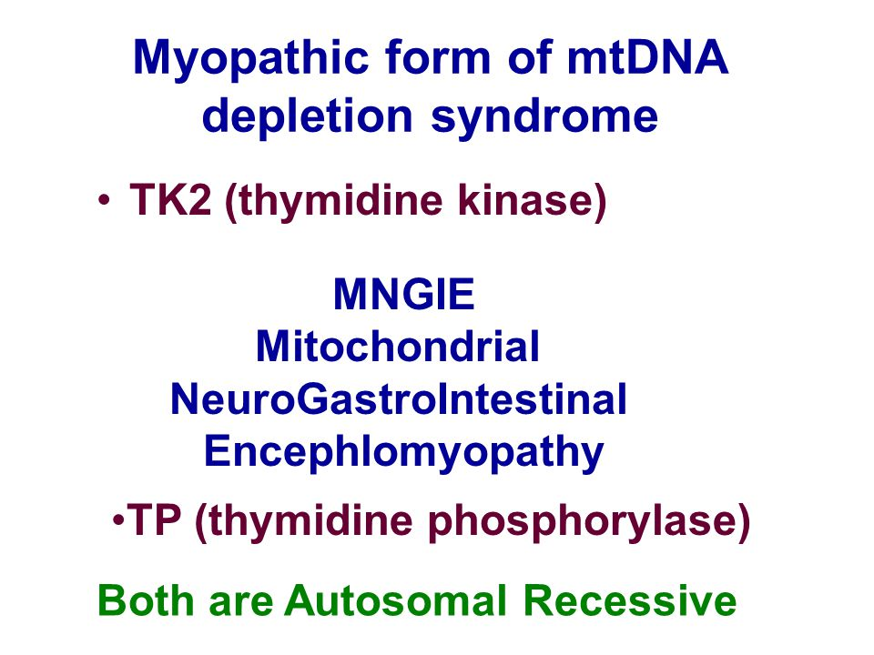 Myopathic form of mtDNA depletion syndrome