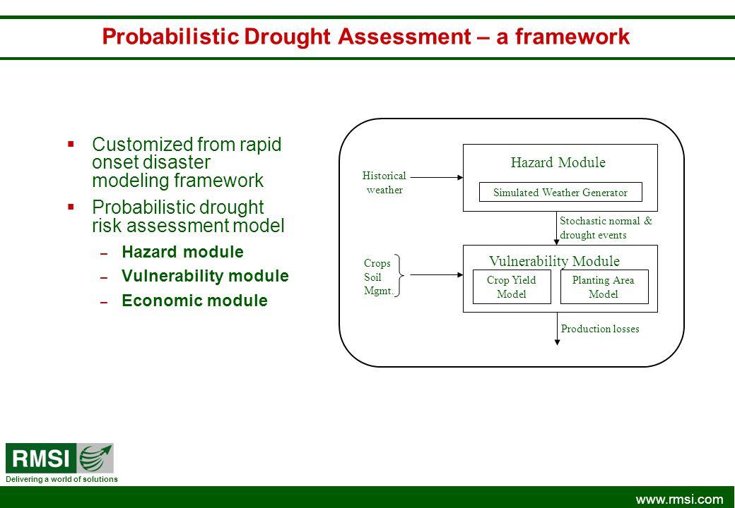 Probabilistic Drought Assessment – a framework