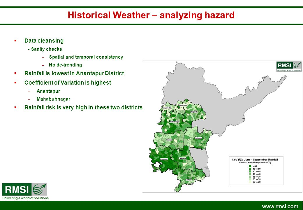 Historical Weather – analyzing hazard