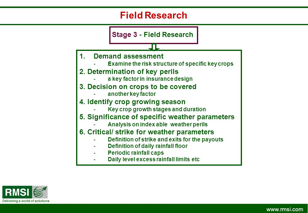 Field Research Stage 3 - Field Research Demand assessment