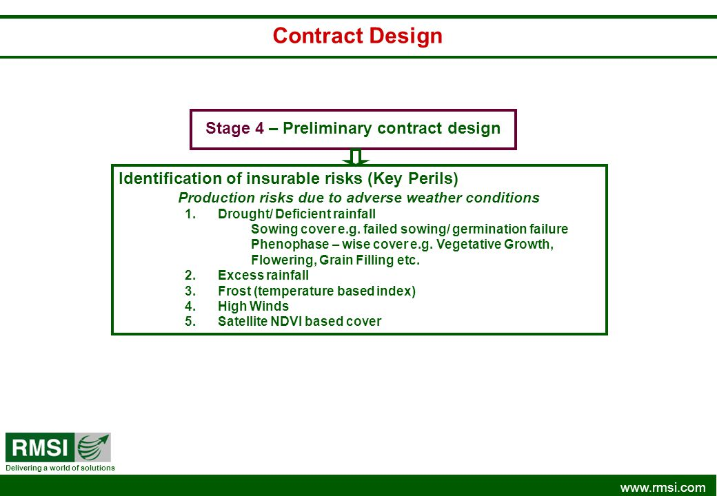 Contract Design Stage 4 – Preliminary contract design
