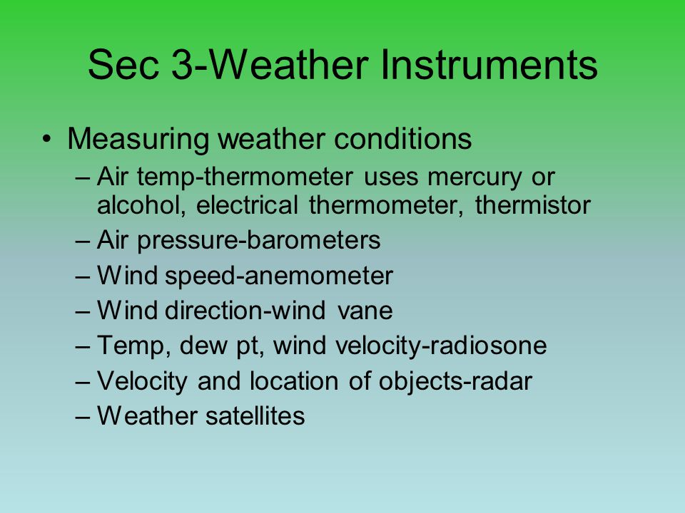 Sec 3-Weather Instruments
