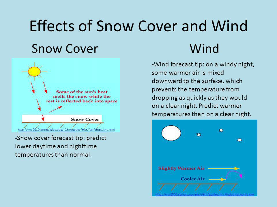 Effects of Snow Cover and Wind