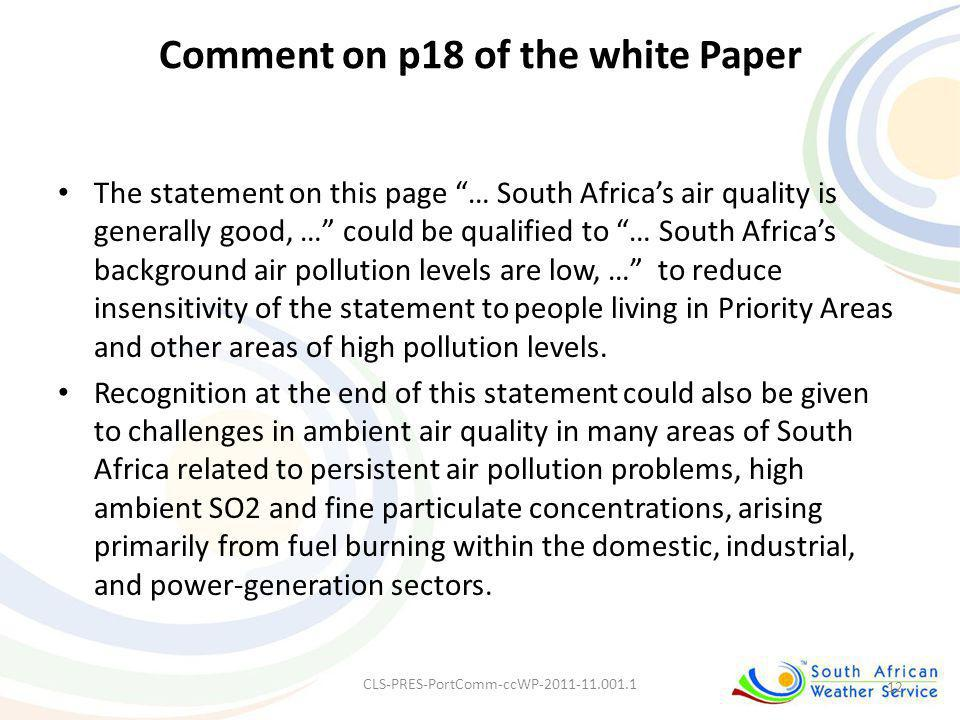 Comment on p18 of the white Paper