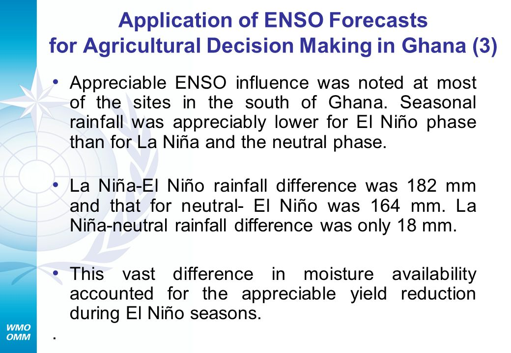 Application of ENSO Forecasts for Agricultural Decision Making in Ghana (3)