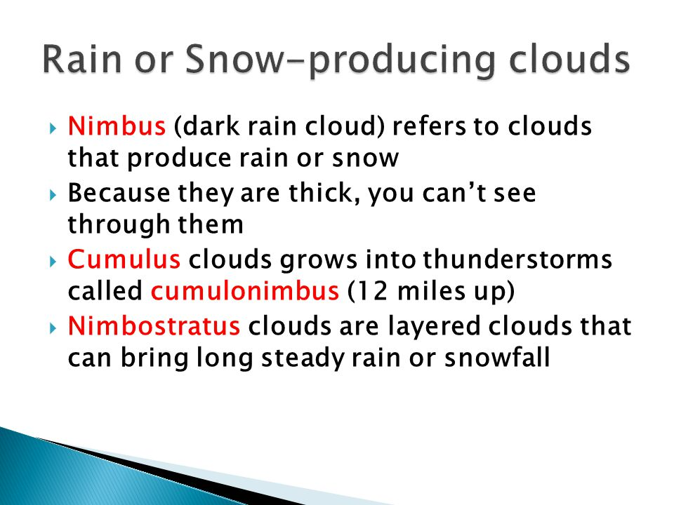 Rain or Snow-producing clouds