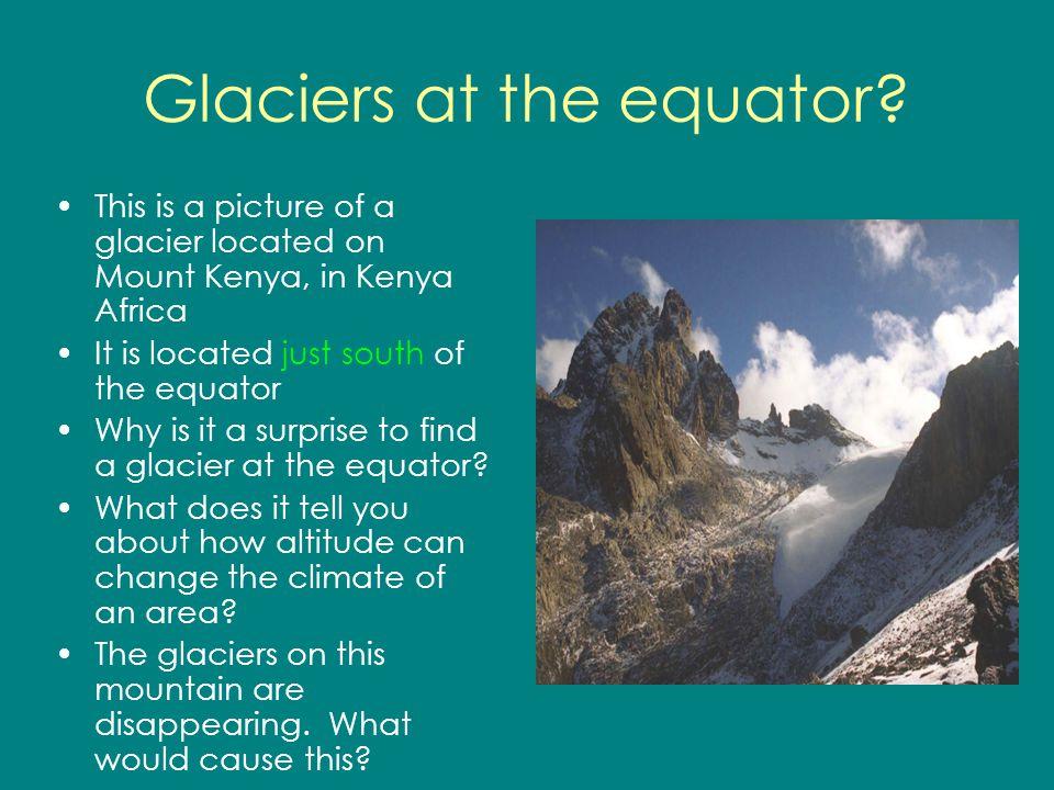 Glaciers at the equator