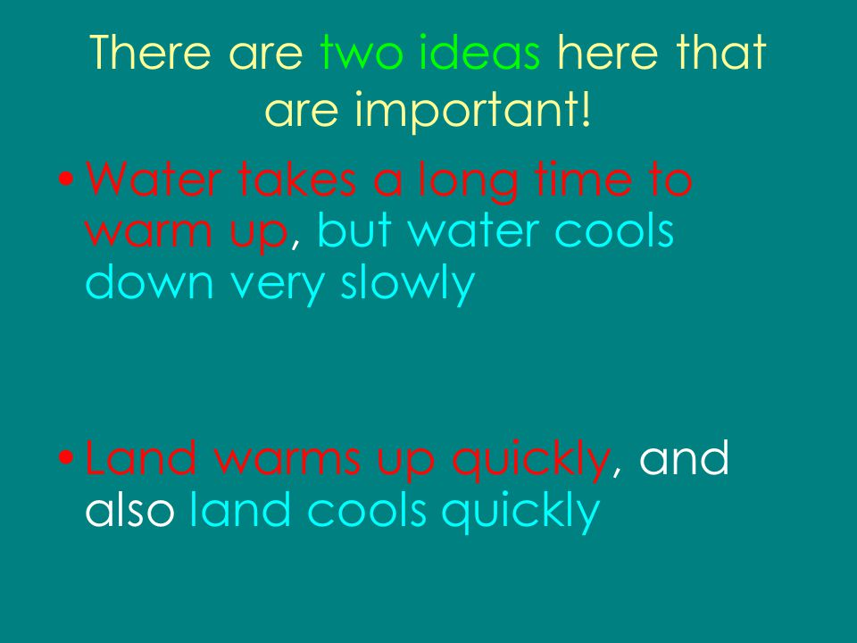 There are two ideas here that are important!