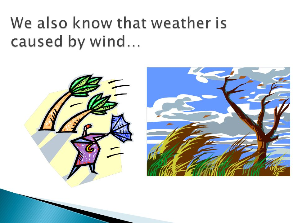 We also know that weather is caused by wind…