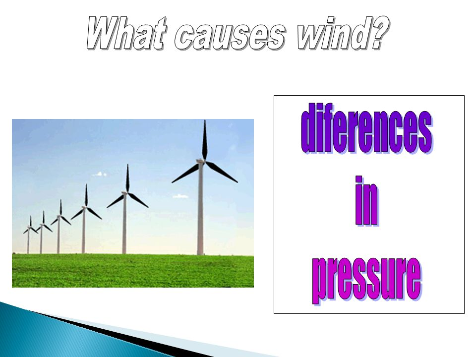 What causes wind diferences in pressure