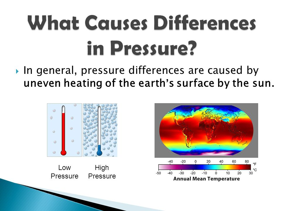 What Causes Differences in Pressure