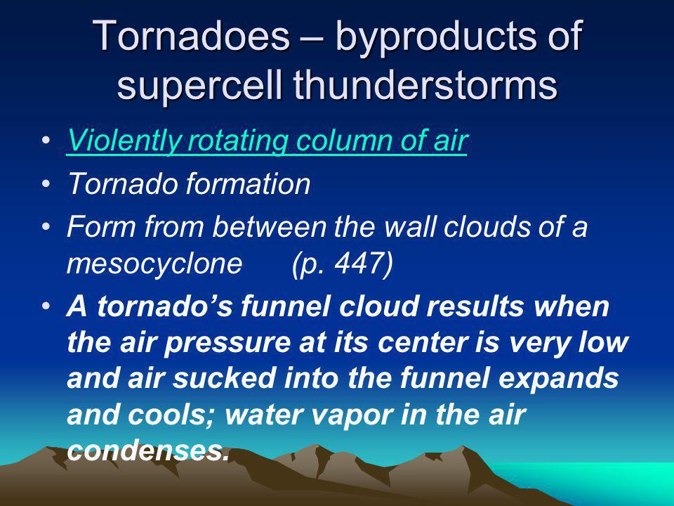 Tornadoes – byproducts of supercell thunderstorms