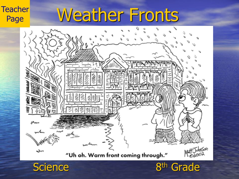 Teacher Page Weather Fronts Science 8th Grade