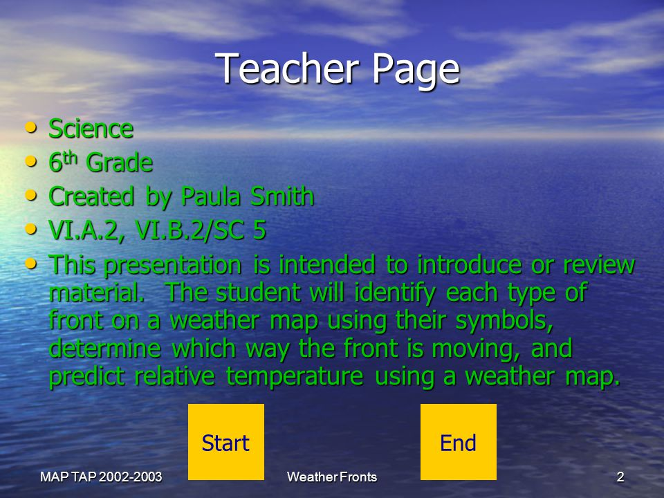 Teacher Page Science 6th Grade Created by Paula Smith