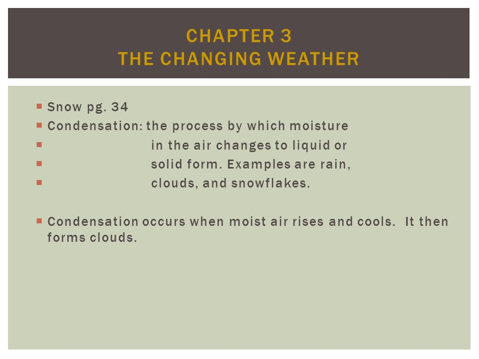Chapter 3 The Changing Weather