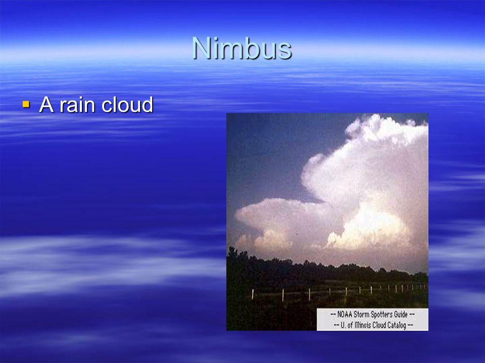 Nimbus A rain cloud