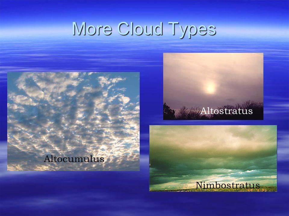 More Cloud Types Altostratus Altocumulus Nimbostratus