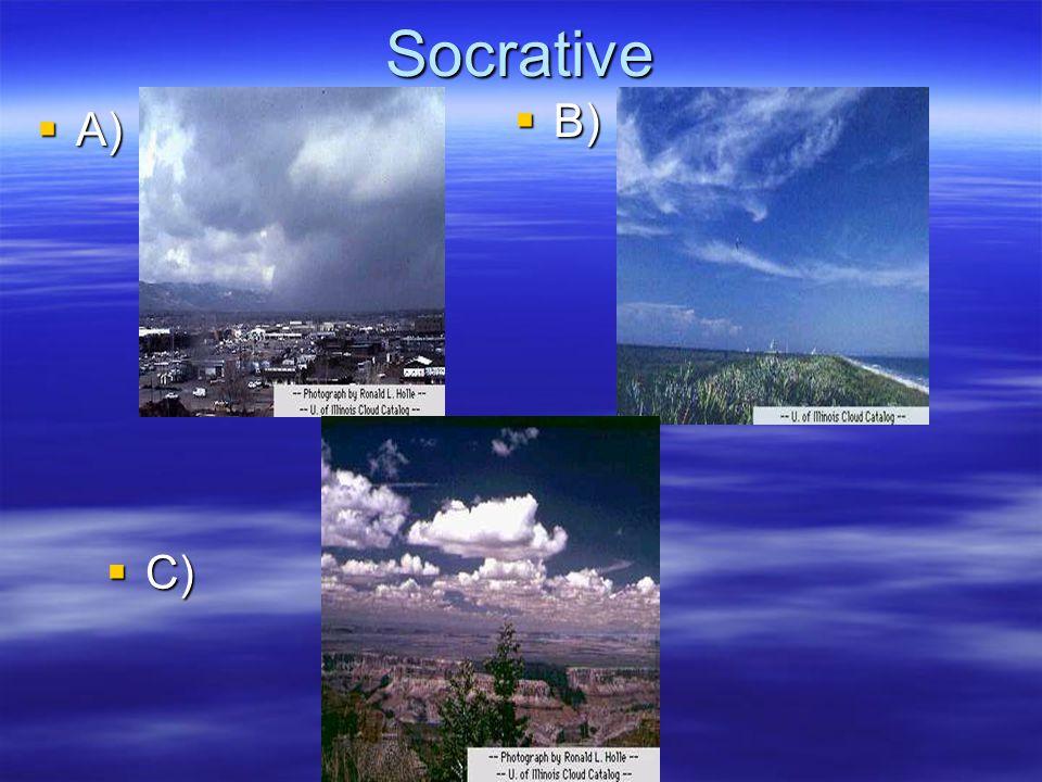Socrative B) A) C)