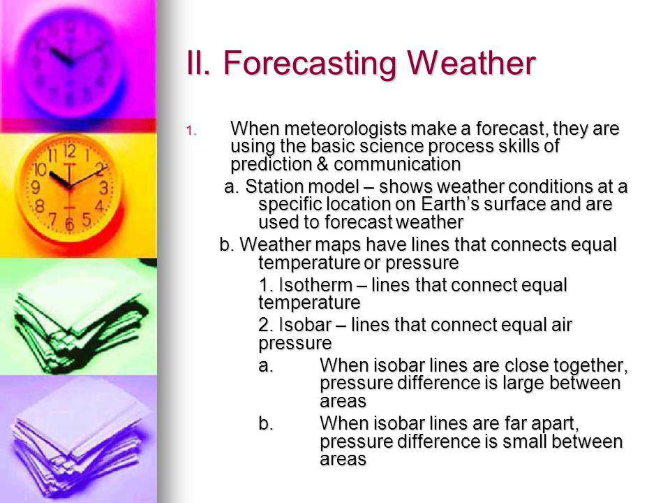 II. Forecasting Weather