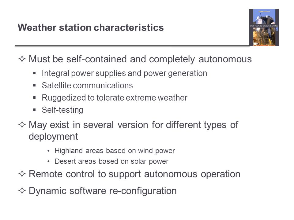 Weather station characteristics