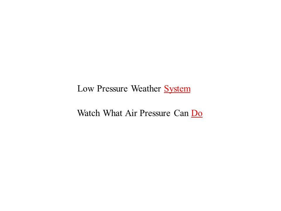Low Pressure Weather System