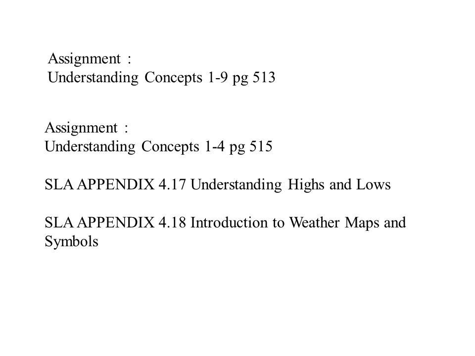 Understanding Concepts 1-9 pg 513