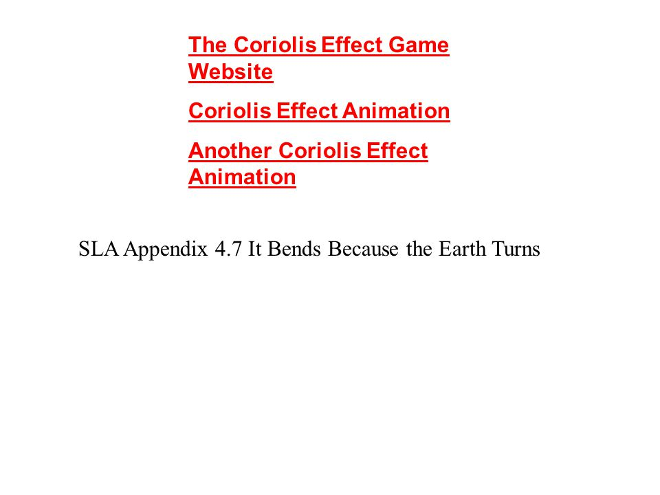 The Coriolis Effect Game Website