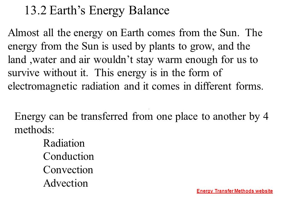 13.2 Earth's Energy Balance