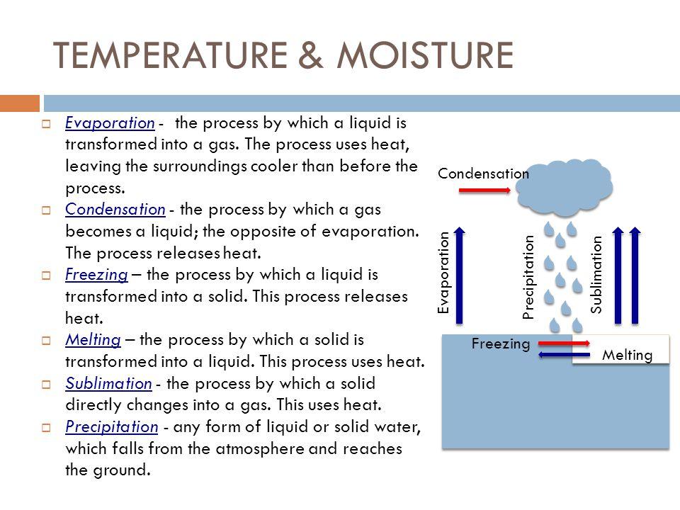 TEMPERATURE & MOISTURE