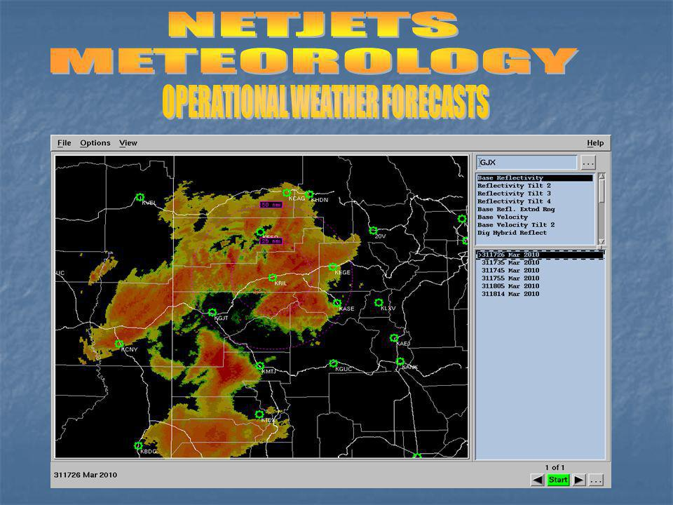 OPERATIONAL WEATHER FORECASTS